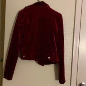 Dolls Kill Jackets & Coats - Wine Velvet Jacket by Pretty Attitude
